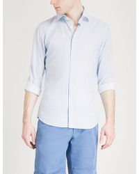 Slowear | Printed Slim-fit Cotton-blend Shirt | Lyst