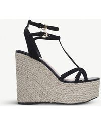 Miss Kg | Pamela Faux-suede Wedged Sandals | Lyst