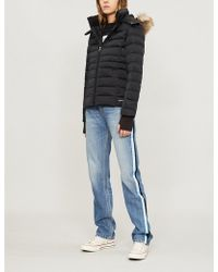 Calvin Klein - Faux Fur-trimmed Shell And Down-blend Puffer Coat - Lyst