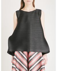 Pleats Please Issey Miyake - Edgy Bounce Pleated Top - Lyst