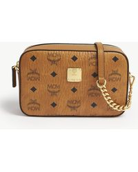 MCM - Visetos Coated Canvas Cross-body Bag - Lyst