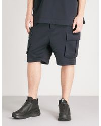 Juun.J - Dropped-crotch Cotton-jersey Shorts - Lyst