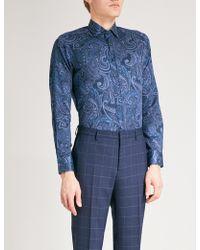 Etro | Paisley-patterned Regular-fit Cotton-poplin Shirt | Lyst