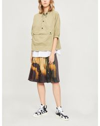 Izzue - Woven And Cotton-blend Jacket - Lyst