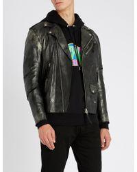 DIESEL - L-ingran Slim-fit Leather Jacket - Lyst