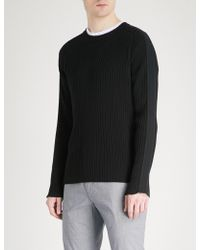 HUGO - Ribbed Cotton-knitted Jumper - Lyst