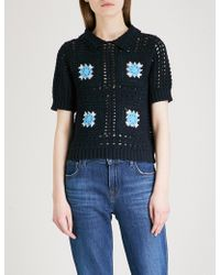 Claudie Pierlot - Messidor Crochet-knit Cotton Top - Lyst