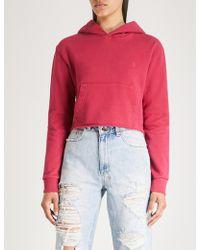 Ksubi - Homeslice Cropped Cotton-jersey Hoody - Lyst