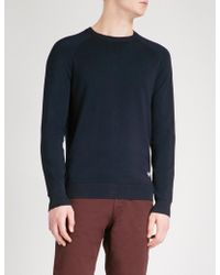 Emporio Armani - Ribbed-detail Knitted Jumper - Lyst