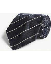 79e7a4cee179 Polo Ralph Lauren Fox Wool-silk Tie in Green for Men - Lyst