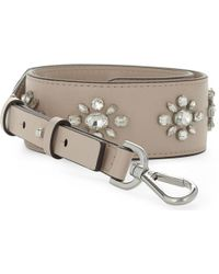 MICHAEL Michael Kors - Floral Jewelled Leather Guitar Bag Strap - Lyst