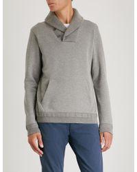 Ralph Lauren Purple Label - Shawl-collar Cotton-jersey Sweatshirt - Lyst