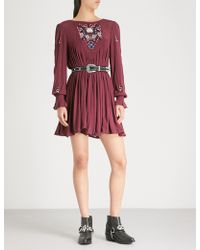 Free People - Mohave Embroidered Woven Mini Dress - Lyst
