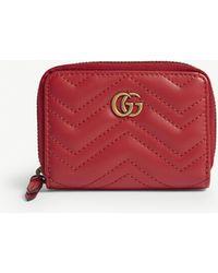 419ea89822ac30 Gucci - Marmont Zip Around Wallet - Lyst