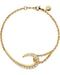 Shaun Leane - Signature Gold And Diamond Hook Bracelet - Lyst
