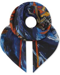 Balmain   Tiger Cotton And Silk-blend Bandana   Lyst