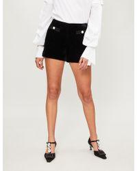 Claudie Pierlot - Diamond-stitching Velvet Shorts - Lyst