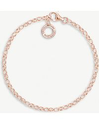 Thomas Sabo - 18ct Rose-gold Plated Charm Bracelet - Lyst