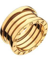BVLGARI - B.zero1 Three-band 18ct Yellow-gold Ring - For Women - Lyst