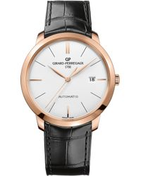 Girard-Perregaux - 49555-52-132-bb60 1966 Alligator-leather And 18ct Rose-gold Watch - Lyst