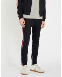 The Kooples - Striped-trim Slim-fit Stretch-jersey jogging Bottoms - Lyst
