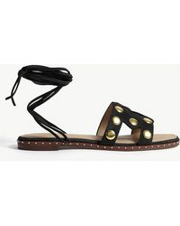 Maje - Studded Suede Sandals - Lyst