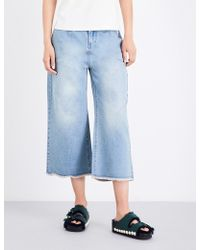 Mo&co. - High-rise Flared Cropped Jeans - Lyst