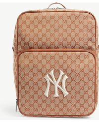 8c74cf41d143 Gucci - Medium Backpack With Ny Yankeestm Patch - Lyst