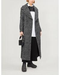 Limi Feu - Marled Wool-blend Coat - Lyst