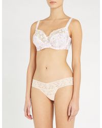 Fantasie - Elsie Floral-embroidered Mesh And Lace Bra - Lyst