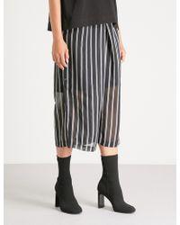 Izzue - Striped Chiffon Trousers - Lyst