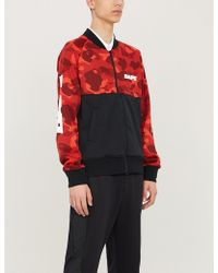 a480cf6fc575 A Bathing Ape - Colour Camo Front Zip Jersey Red - Lyst