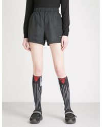 Prada | Logo-embroidered Nylon Shorts | Lyst