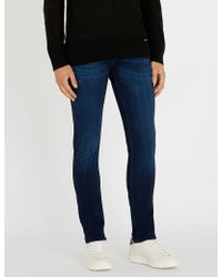 7 For All Mankind - Ronnie Luxe Faded Regular-fit Skinny Jeans - Lyst
