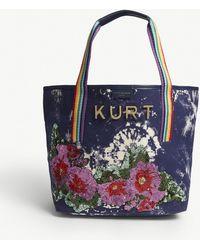 Kurt Geiger - Daisy Sequinned Canvas Shopper - Lyst