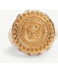 Versace - Medusa Crystal Circle Ring - Lyst