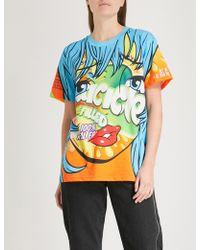 Moschino - Crazy Fruits Pinted Cotton-jersey T-shirt - Lyst