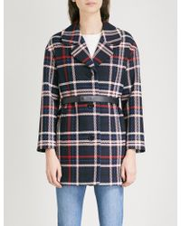 Claudie Pierlot - Gatina Checked Woven Coat - Lyst