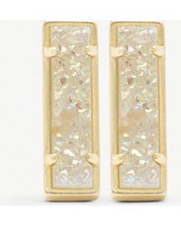 Kendra Scott - Lady 14ct Gold-plated And Iridescent Drusy Bar Earrings - Lyst