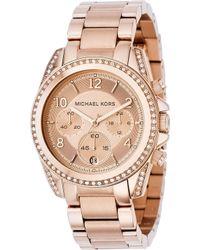 Michael Kors - Mk5263 Blair Rose Gold-plated Watch - Lyst