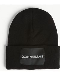 Calvin Klein - Logo Wool-blend Beanie - Lyst