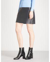 Sandro | Mid-rise Leather Skirt | Lyst