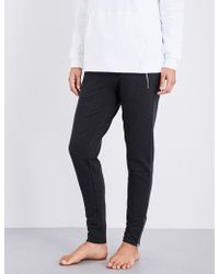 The White Company | Zip-detail Stretch-cotton Jogging Bottoms | Lyst
