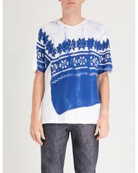 Maison Margiela - Mako Split Cotton-jersey T-shirt - Lyst