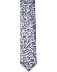 Duchamp - Classical Floral Silk Tie - Lyst