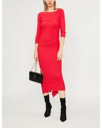 Pinko - Agate Knitted Midi Dress - Lyst