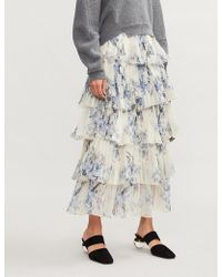Johanna Ortiz - Journey Of The Soul Floral-print Silk Skirt - Lyst
