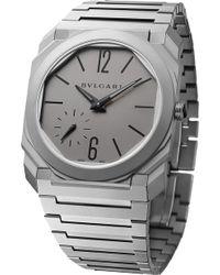 BVLGARI - Octo Finissimo Titanium Watch - Lyst