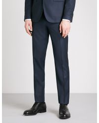 Thomas Pink - Burford Checked Slim-fit Wool Trousers - Lyst
