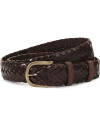 Elliot Rhodes   Leather Woven Belt   Lyst